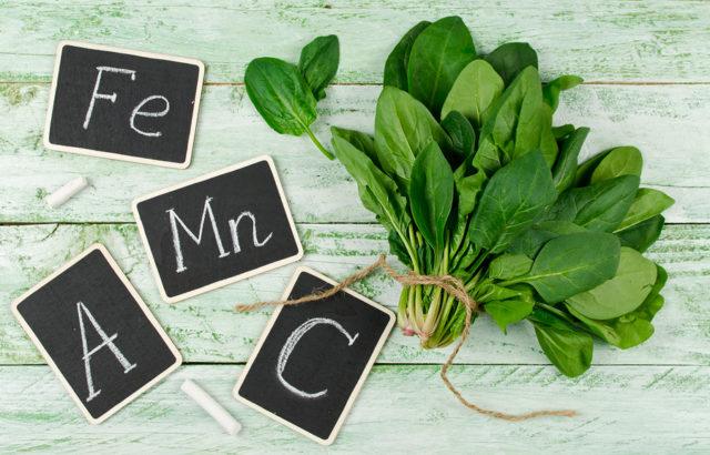 Spinaci verdi e buon