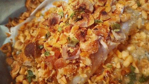 preview della video ricetta: Baccalà in crosta di nocciole