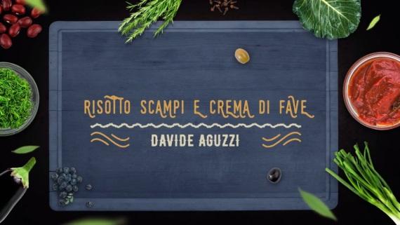 preview della video ricetta: Risotto Scampi e crema di Fave